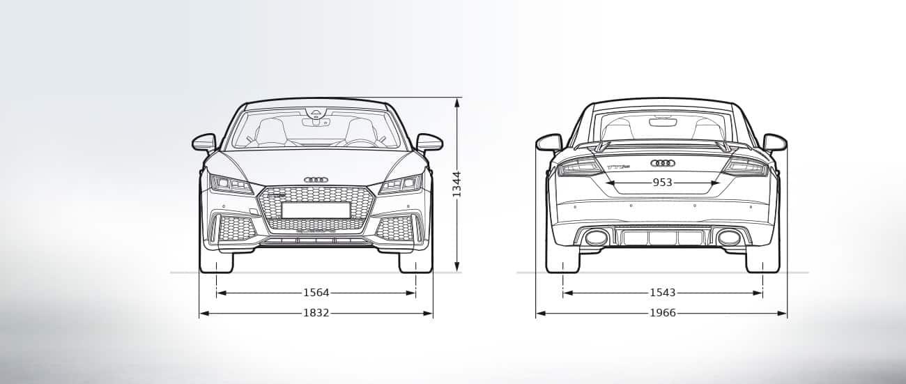 Audi Ttrs Frontview Audi Ttrs Dimensions Audi Ttrs Coupe 2019