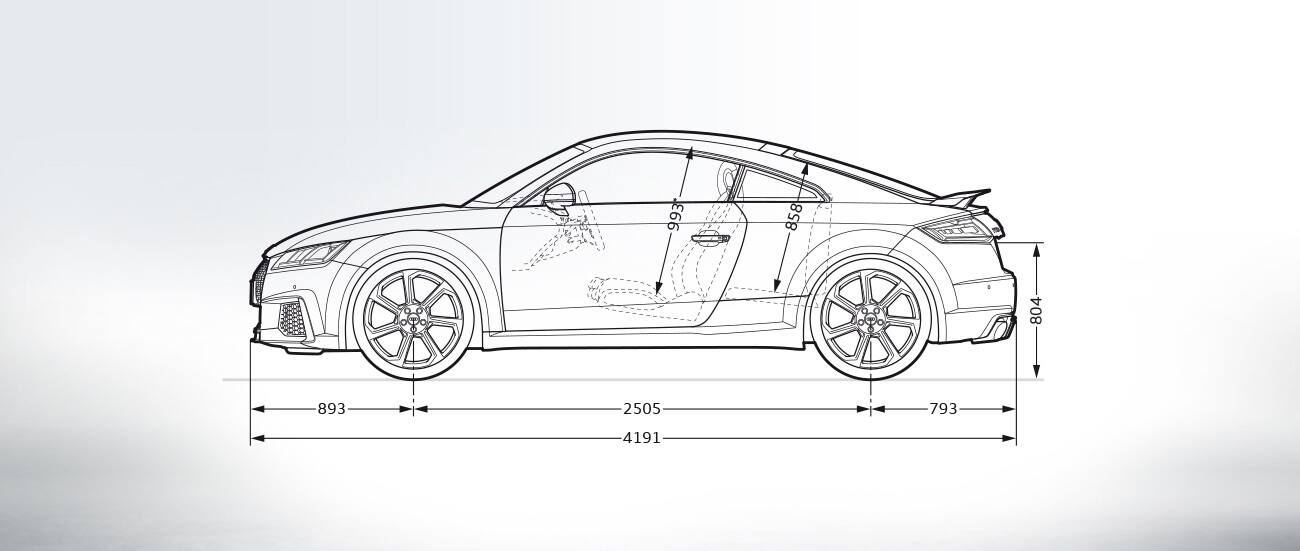 Audi Ttrs Dimensions Audi Ttrs Coupe 2019 Audi Tt 2019 Audi